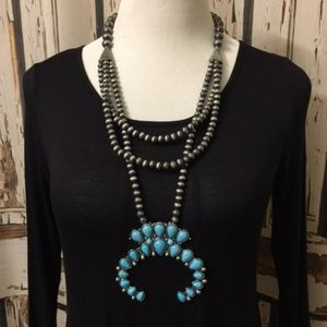 Jewelry - Squash Blossom Navajo Bead Necklace Style